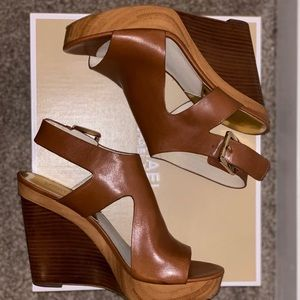 Luggage Leather Wedges